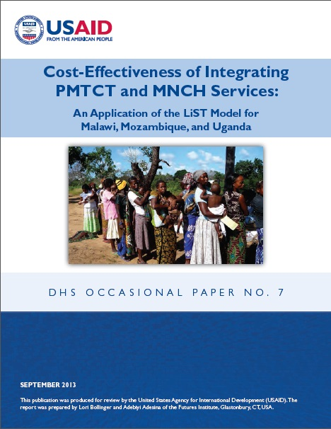 COVER Cost effectiveness of Integrating PMTCT and MNCH.2013