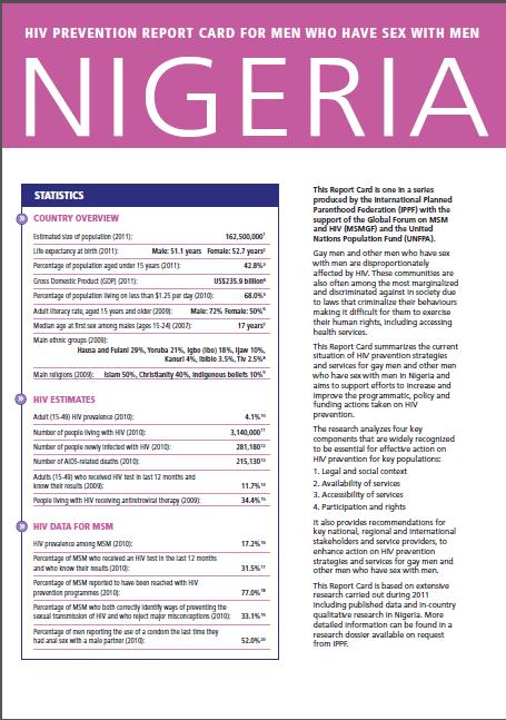 COVER Nigeria Report Card
