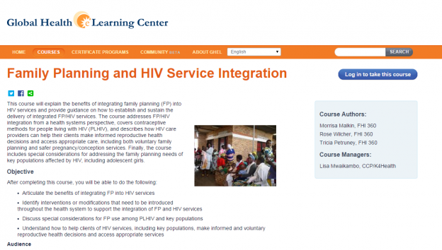 Family Planning and HIV service integration