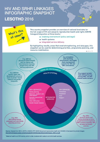 This infographic snapshot provides an overview of national level data for more than 150 indicators covering the full scope of HIV and SRHR linkages